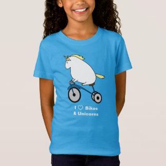 Bijorn The Chubby Unicorn I Love Bikes T-Shirt