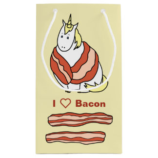 Bijorn The Chubby Unicorn Loves Bacon Small Gift Bag
