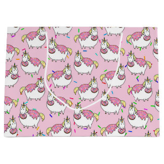 Bijorn The Chubby Unicorn Loves Sprinkle Doughnuts Large Gift Bag