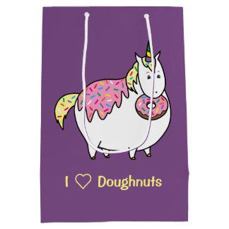 Bijorn The Chubby Unicorn Loves Sprinkle Doughnuts Medium Gift Bag