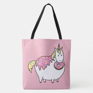 Bijorn The Chubby Unicorn Loves Sprinkle Doughnuts Tote Bag