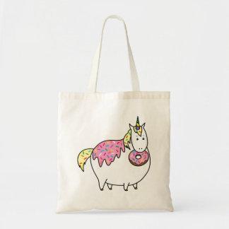 Bijorn The Chubby Unicorn Loves Sprinkle Doughnuts Tote Bag