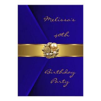 Bijou bleu de perle d or de velours de fête d anni faire-parts
