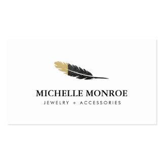 Bijoux de Bohème frais de plume, boutique Carte De Visite Standard