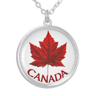 Bijoux de feuille d'érable du Canada de collier de