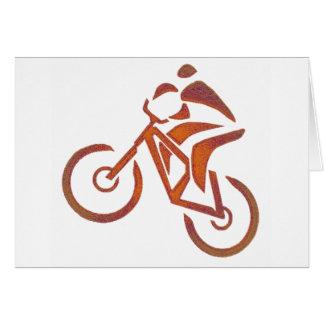 Bike All Downhill Greeting Card