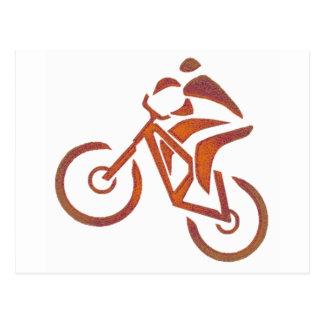 Bike All Downhill Postcard