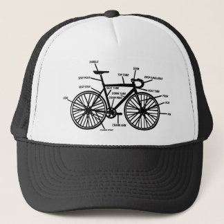 Bike Anatomy Funny Geek Geeks T-Shirt Trucker Hat