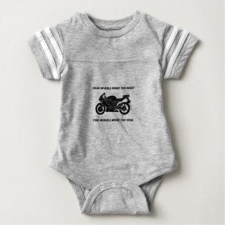 Bike and body soul baby bodysuit