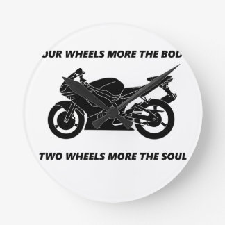 Bike and body soul round clock
