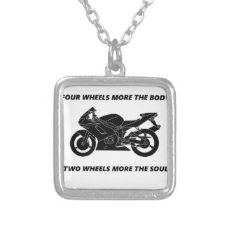 Bike and body soul silver plated necklace