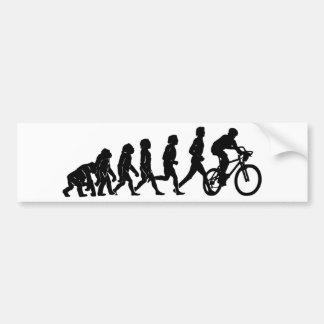 Bike and evolution bumper sticker