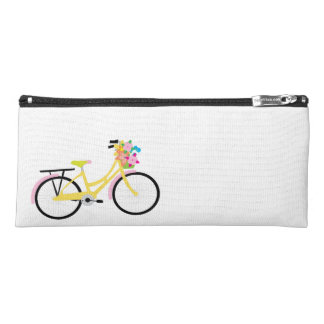 Bike and Flowers Pencil Bag