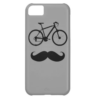 bike and mustache iPhone 5C cases
