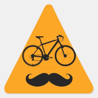 bike and mustache triangle stickers
