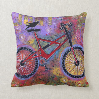 Bike and Raven Pillow - Pure Delight