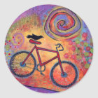 Bike and Raven Sticker - Just Ride and Fly