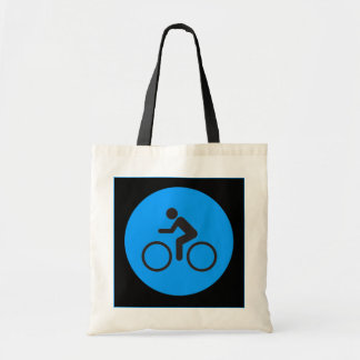bike and rider tote budget tote bag