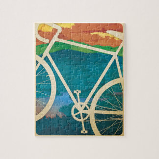 Bike Artwork - PUZZLE with Tin - Bike NY