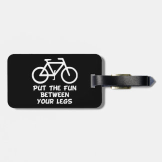 Bike Between Legs Luggage Tag