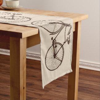 bike bicycle bike table runner oatmeal brown cream