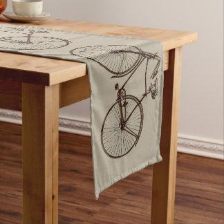 bike bicycle bike table runner oatmeal brown taupe