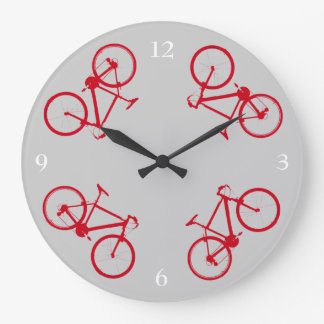 bike , bicycle ; biking / cycling large clock