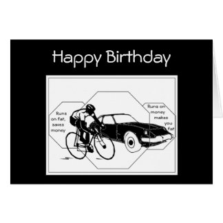 Bike, Bicycle, Cycle, Sport Biking Custom Birthday Card