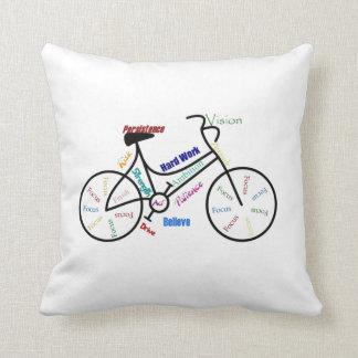 Bike, Bicycle, Cycle, Sport, Biking, Motivational Throw Pillow