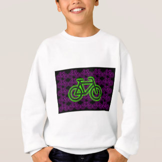 Bike, Bicycle, Neon, Green, Pink , Purple Sweatshirt