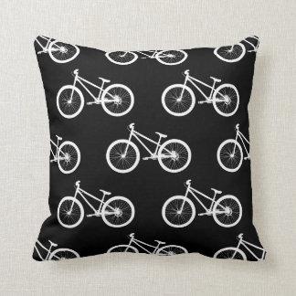 Bike Black Bicycle Throw Pillow