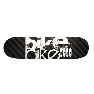 Bike; Black & Dark Gray Stripes Custom Skate Board