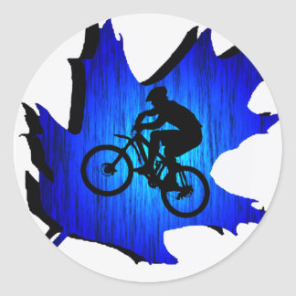 Bike Blue Oak Classic Round Sticker