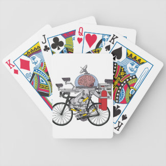 Bike Brain (cyclist of the year 3000) Bicycle Playing Cards