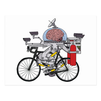 Bike Brain (cyclist of the year 3000) Postcard