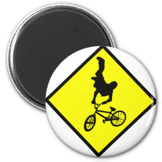 Bike Crossing Sign Magnet