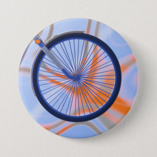 Bike Cycle - Bicycle Wheel 3 Inch Round Button