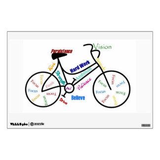 Bike, Cycle Motivational Words for Biking Fan Wall Decal
