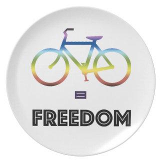 Bike Equals Freedom Plate