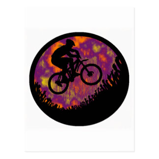 bike evening cruise postcard