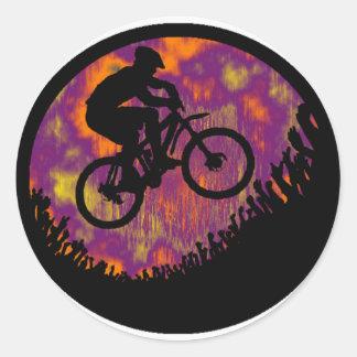 bike evening cruise round sticker