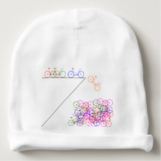 Bike falling off has cliff baby beanie