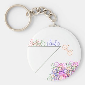 Bike falling off has cliff keychain