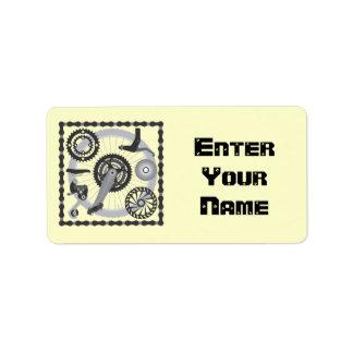 Bike Gears Address Label