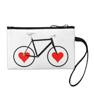 Bike Heart Wheels Coin Purses