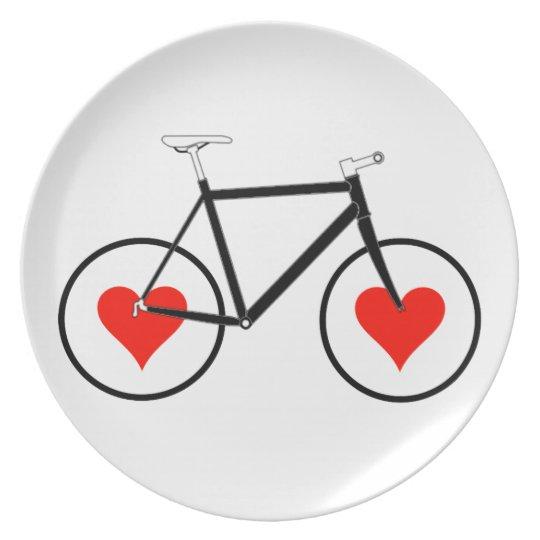 Bike heart Wheels Plate