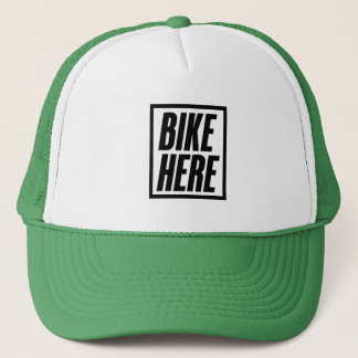 Bike Here Trucker Hat