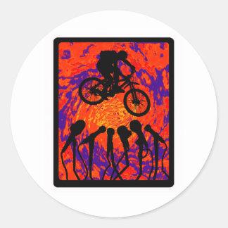 Bike Hidden Trail Round Sticker