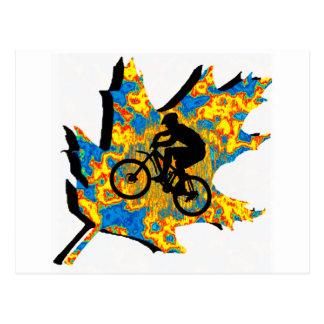 Bike Hippie Leaf Postcard