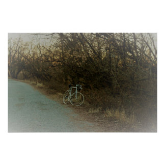 Bike in the Woods Poster